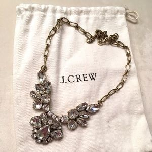 "JCrew glass ""crystal"" statement necklace"